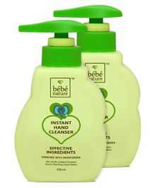 Bebe Nature Instant Hand Cleanser - 250 ml (Pack 0f 2 )