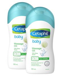 Cetaphil Baby Massage Oil With Triple Blend - 200 ml ( Pack of 2 )