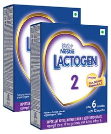 Nestle Lactogen 2 Follow-Up Formula Powder - After 6 months Stage 2 400 gm Bib Pack(Pack of 2)