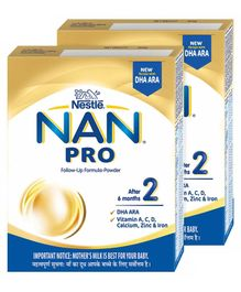 Nestle Nan Pro Stage 2 Follow-up Formula Powder - 400 g(Pack of 2)