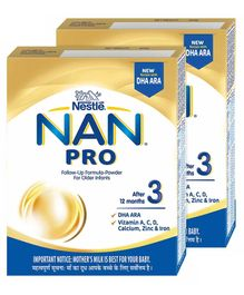 Nestle Nan Pro 3 Follow-up Formula Powder 400 g(Pack of 2)