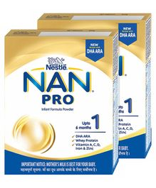 Nestle Nan Pro 1 Starter Infant Formula Powder - 400 g(Pack of 2)