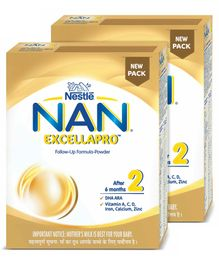 Nestle Nan Excella Pro 2 Infant Formula - 400 g(Pack of 2)