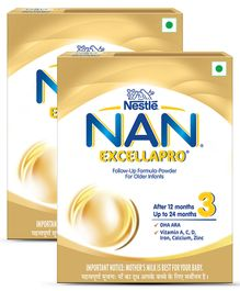 Nestle Nan Excellapro 3 Follow-Up Formula Powder - 400 g(Pack of 2)