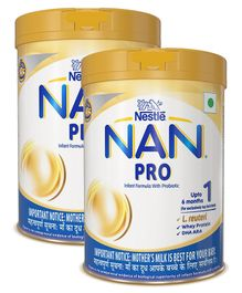 Nestle NAN Pro 1 Infant Formula Powder Tin Pack - 400 g(Pack of 2)