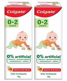 Colgate Natural Fruit Flavour Fluoride Free Tooth Paste - 70 grams ( Pack of 2 )