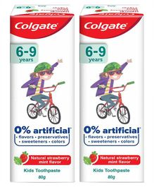 Colgate Natural Strawberry Mint Flavour Tooth Paste - 80 grams ( Pack of 2 )