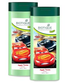 Baby Biotique Apple Twist Shampoo Disney Car Print Green - 180 ml Pack Of 2