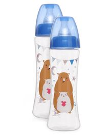 Vauva Wide Neck Slim Feeding Bottle 250 ml (Color and Print May Vary) Pack Of 2