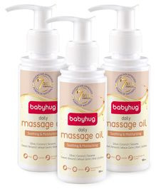 Baby Hug Daily Massage Oil 100ml - Pack of 3