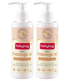 Baby Hug Daily Massage Oil 200ml - Pack of 2