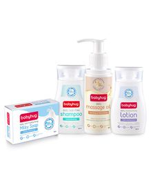Babyhug Combo of Daily Shampoo , Lotion & Oil -100 ml With Babyhug Moisturising Bathing bar - 75 gm
