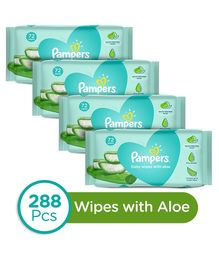 Pampers Baby Wipes with Aloe - 144 pcs (Pack of 2)