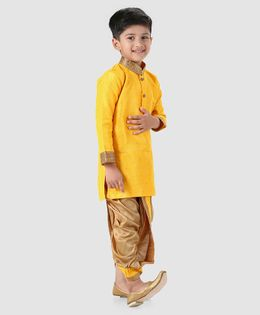 Babyhug Full Sleeves Kurta And Dhoti - Yellow