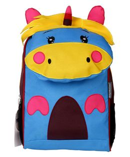 My Milestones Unicorn Shaped Backpack Yellow Blue - 14 inches