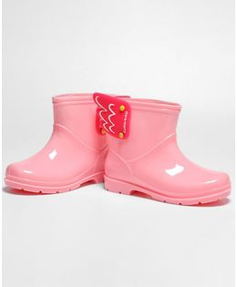 Pre Order - Awabox Wing Decorated Rain Boots - Pink