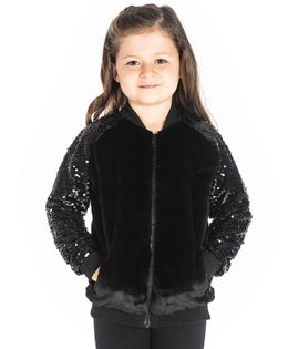 Cherry Crumble California Sequined Full Sleeves Jacket - Black