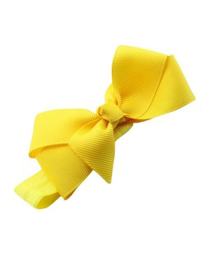 Akinos Kids Carnation With A Bow Headband - Yellow