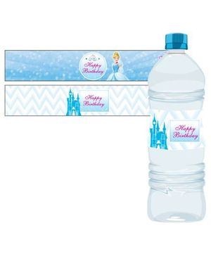 Disney Cinderella Water Bottle Labels - Pack of 10