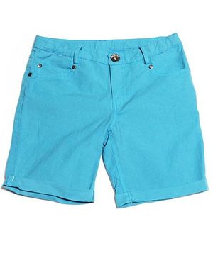 One Friday Over Dye Shorts - Blue