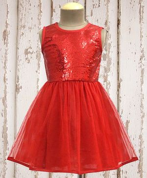A.T.U.N. Shimmer & Twirl Dress - Red