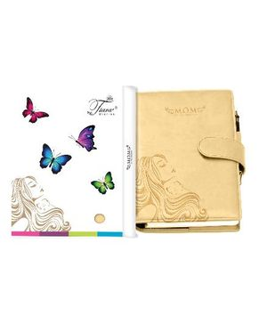 Tiara Diaries Pregnancy and Baby Journal Cum Planner - Beige
