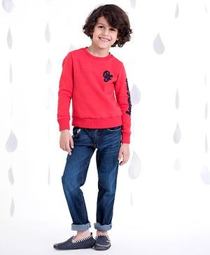 One Friday Boys T-Shirt With Trouser - Red