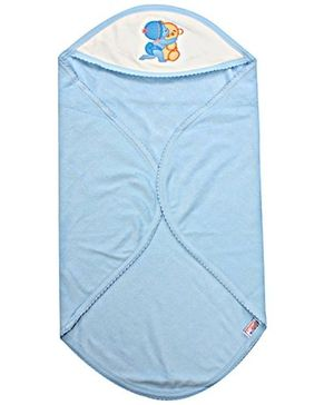 Tinycare Hooded Towel Super Baby Print - Blue