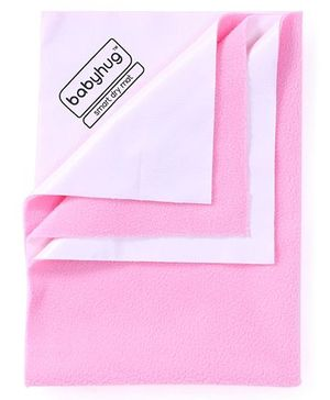 Babyhug Smart Dry Bed Protector Sheet Small - Pink