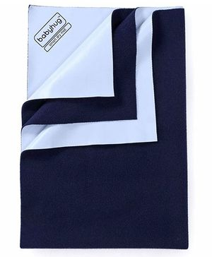 Babyhug Smart Dry Bed Protector Sheet Small - Navy