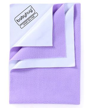 Babyhug Smart Dry Bed Protector Sheet Medium - Lilac
