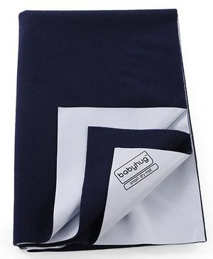 Babyhug Smart Dry Bed Protector Sheet Large - Navy