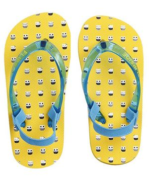 Flipside Smart Owl Flipflops - Yellow (2.5 to 3 Years)