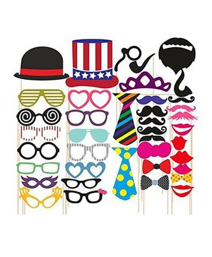 Syga Party Props Set 40 Pieces - Multicolor