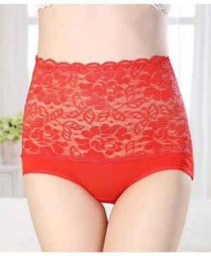 Aaram Antibacterial Eco Friendly Lace Panty - Red