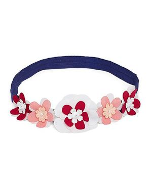 A Little Fable 3D Floral Headband - Navy Blue