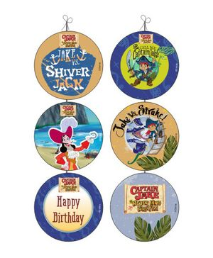 Disney Captain Jake and the Neverland Danglers Pack of 6 - Multi Color