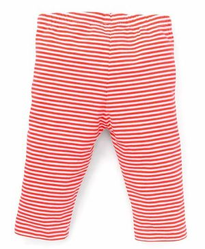 Beebay Capri Leggings Stripes Print - Coral