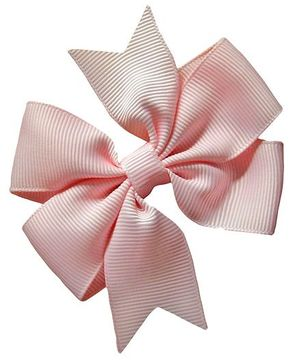 Akinos Kids Double Bow Flower Shape Applique Hair Clip - Pink