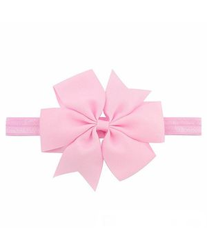 Bellazaara Boutique Ribbon Bow Headband  - Pink