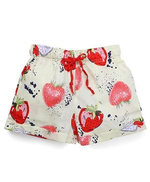 The KidShop Strawberry Print Shorts - Yellow