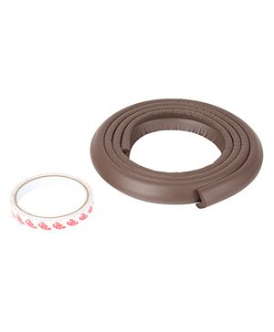 Safe-O-Kid 2 Edge Guard Strips (2 meter), L-Shaped, Dark Brown