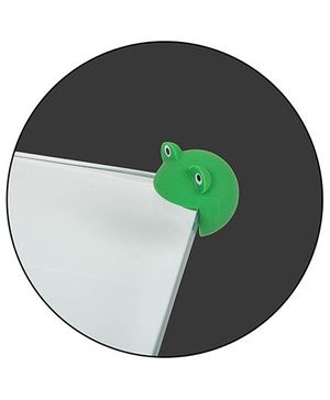 Safe-O-Kid Cartoon Face Corner Caps Pack of 12 - Green