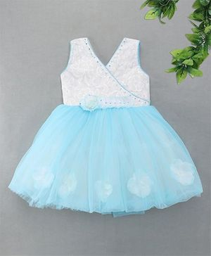M'Princess Sequin Embroidered Party Dress - Light Blue