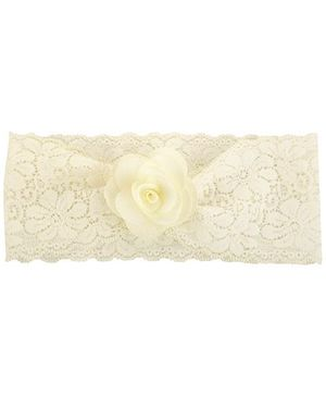 Funkrafts Pretty Flower Headband - Cream