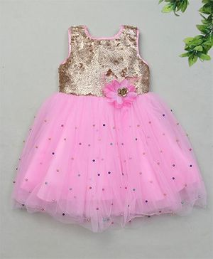M'Princess Stylish Party Dress - Pink