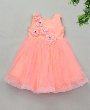 M'Princess Sleeveless Party Dress - Peach