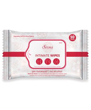 Sirona Intimate Wet Wipes - 10 Pieces