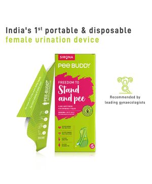 PeeBuddy - Disposable Portable Female Urination Device for Women 5 Funnel - 1 Pack