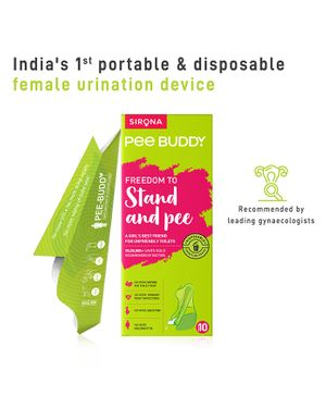 PeeBuddy - Disposable, Portable Female Urination Device for Women 10 Funnel - 1 Pack